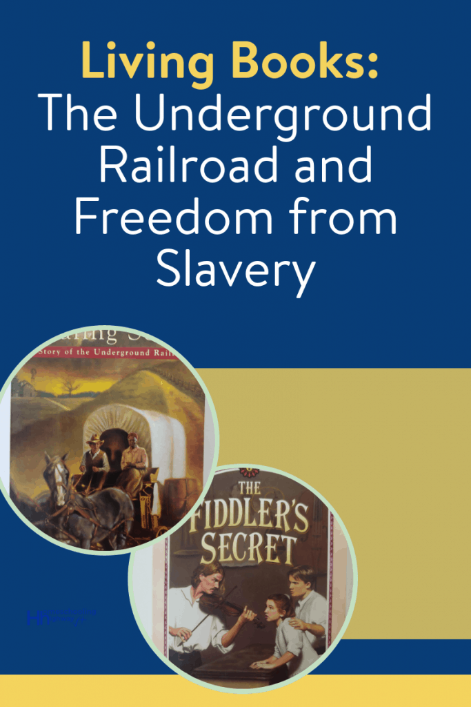 Living Book descriptions for kids who want to learn about the underground railroad and freedom from slavery during the civil war era.