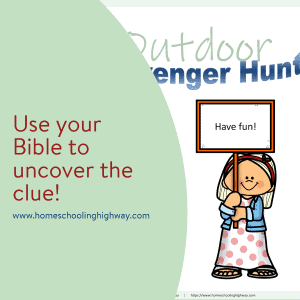 Free, printable outdoor scavenger hunt