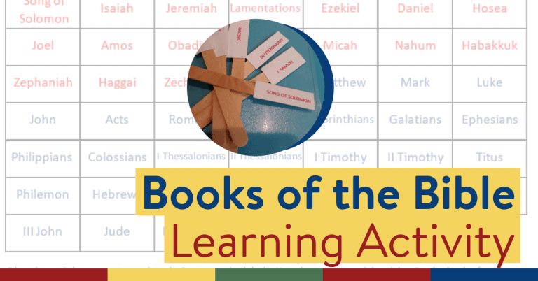 Popsicle Stick Activity: Help your Child Learn the Books of the Bible