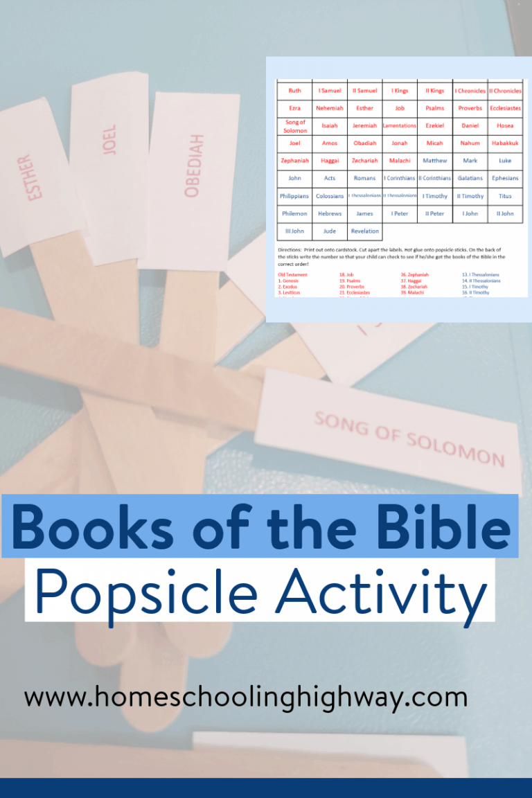 Sign up here to get your free, printable Books of the Bible learning activity that uses popsicle sticks.