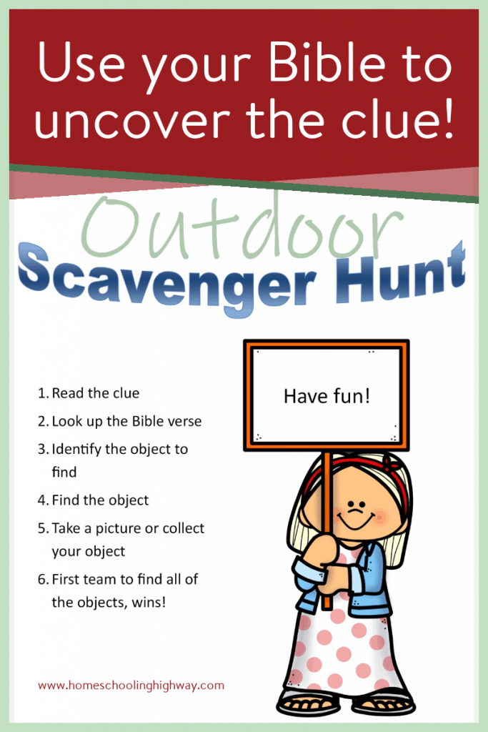 Free, printable, outdoor scavenger hunt.
