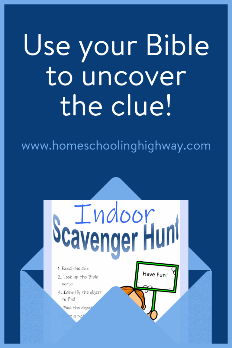 Use your Bible to uncover the clues for this indoor scavenger hunt