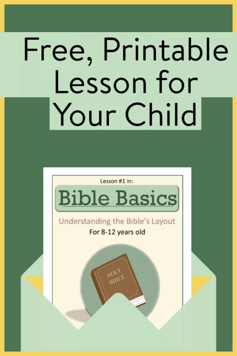 Bible lesson for children