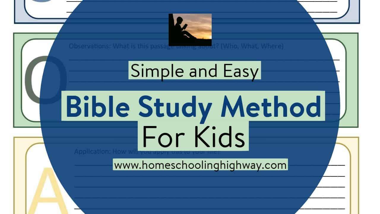 Bible study method for kids