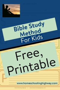 Easy to use Bible study method for kids
