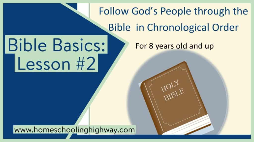 Follow God's chosen people through the Bible with this basic Bible lesson.