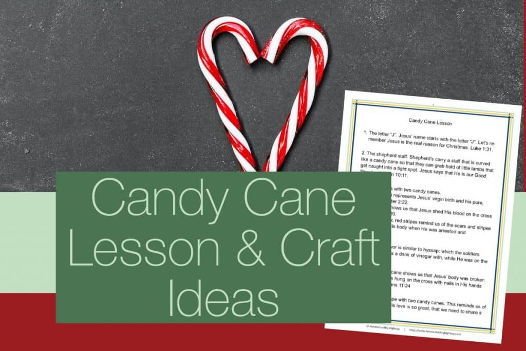 Candy Cane lesson and craft list