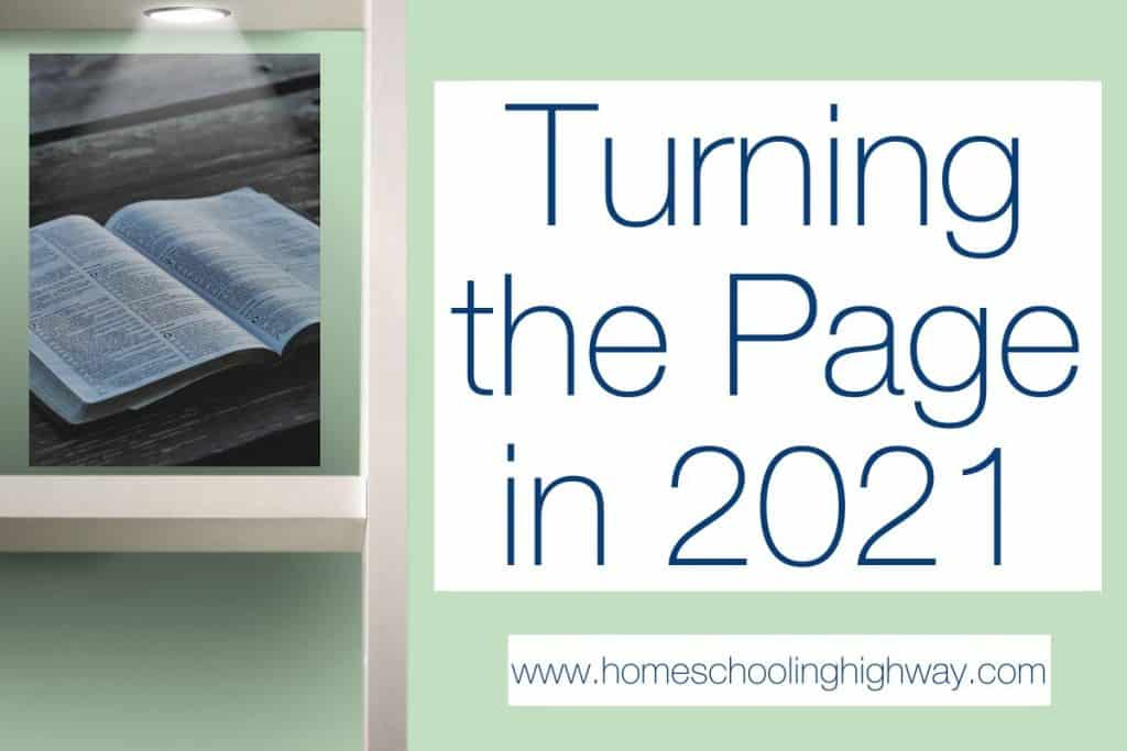 Homeschool Review Crew Blog Post Challenge Turning the Page into 2021