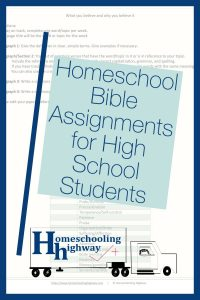 Bible lessons for high school students