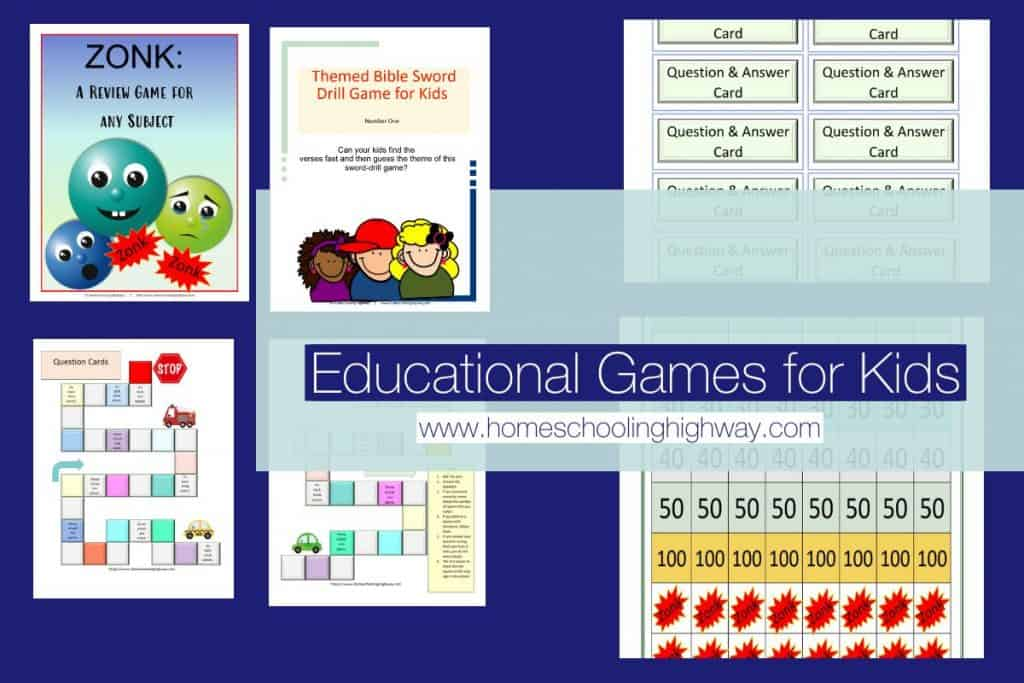 Educational indoor games for kids