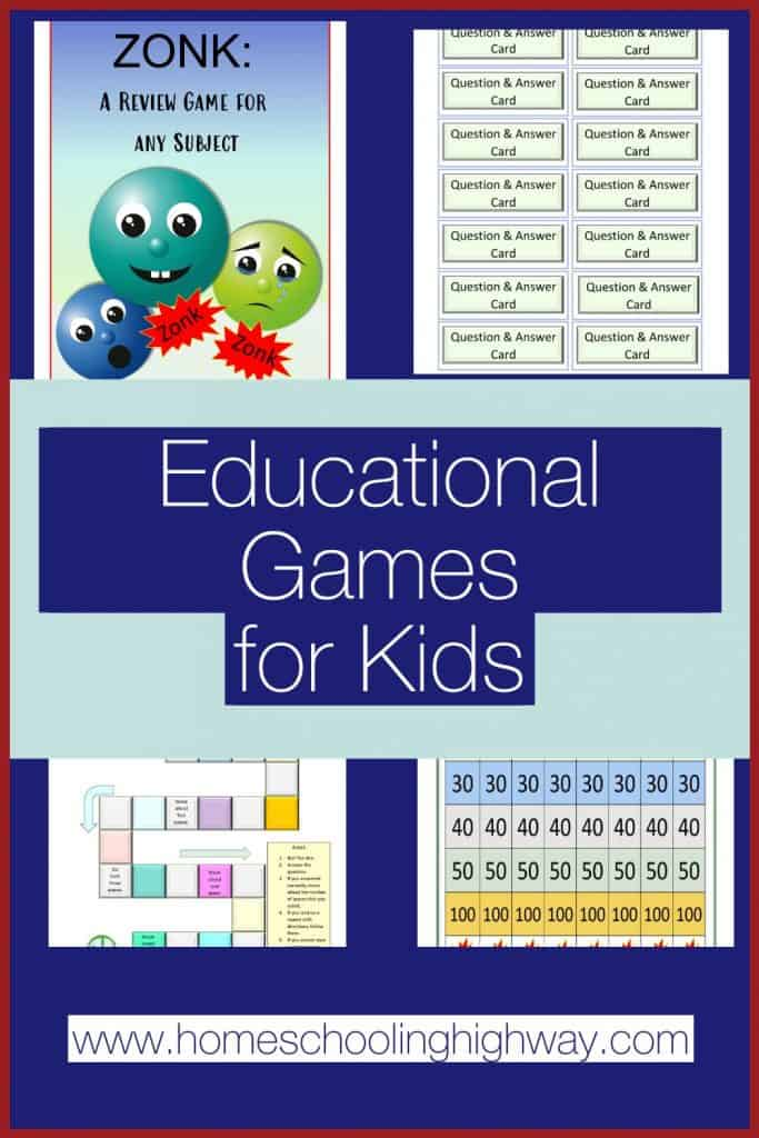 Educational Indoor Games for kids of all ages