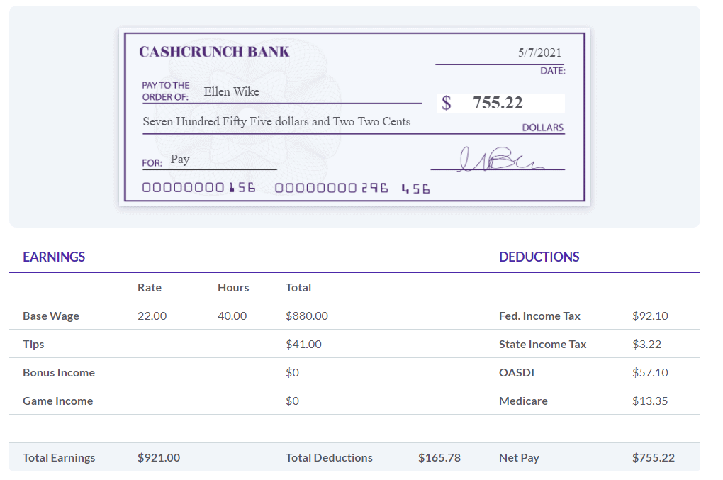 Paycheck for Personal Finance Lab's Budgeting Game