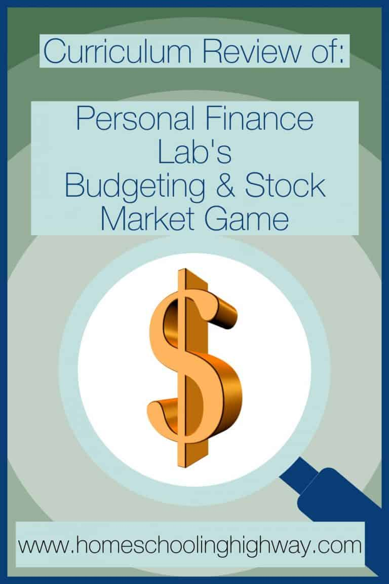 Review of Budgeting and Stock Market game created by Personal Finance Lab.