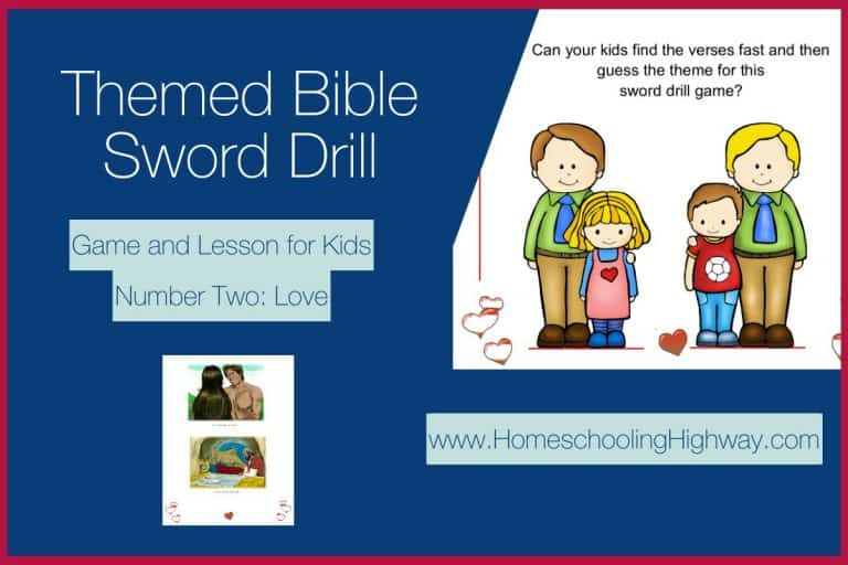 Themed Bible Sword Drill Game and Lesson: Number Two. Love