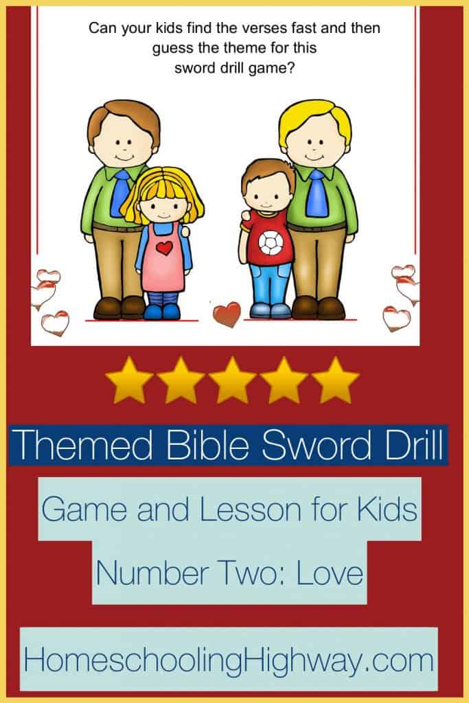 Game and Lesson revolving around the topic of God's love. Sword drill style game for kids