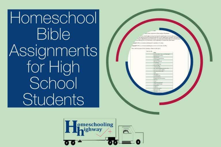 Homeschool Bible Assignments for High School