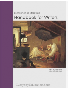 Book cover for Excellence in Literature Handbook for Writers