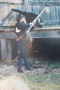 Musket shooting demonstration