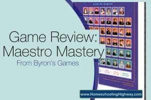 Review of Children's Game. Maestro Mastery. Explore the Composers by Byron's Games