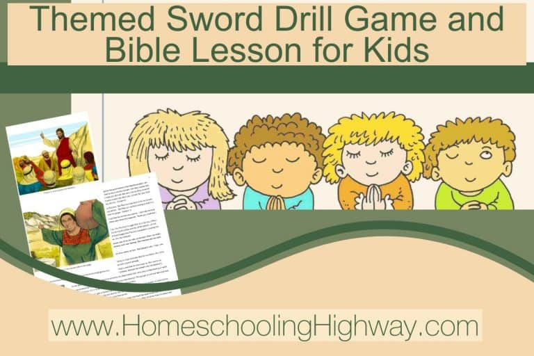 Themed Bible Sword Drill Game and Lesson: Number Three. Prayer
