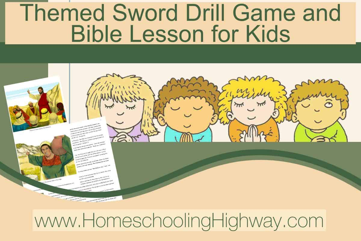 Bible sword drill game for kids