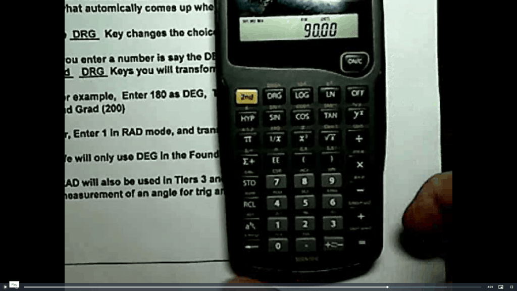Picture of video lesson from Triad Math Inc.