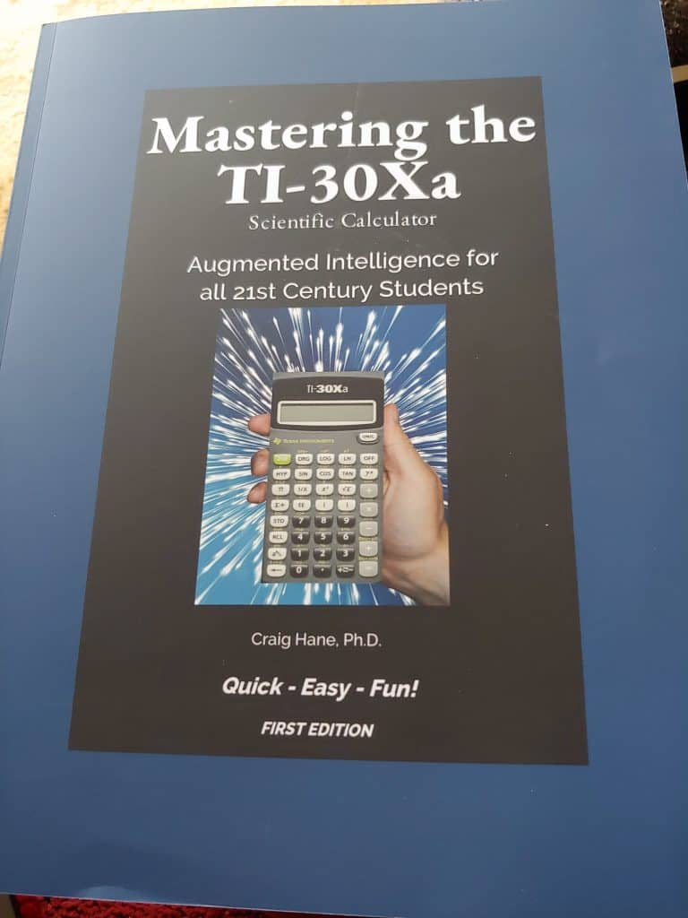 Cover image for the worktext called Mastering the TI-30Xa Scientific Calculator
