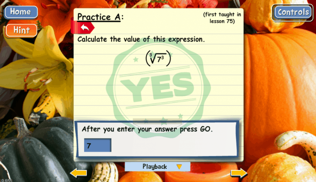 Practice problem from Algebra 1 course of Teaching Textbooks' Math 4.0