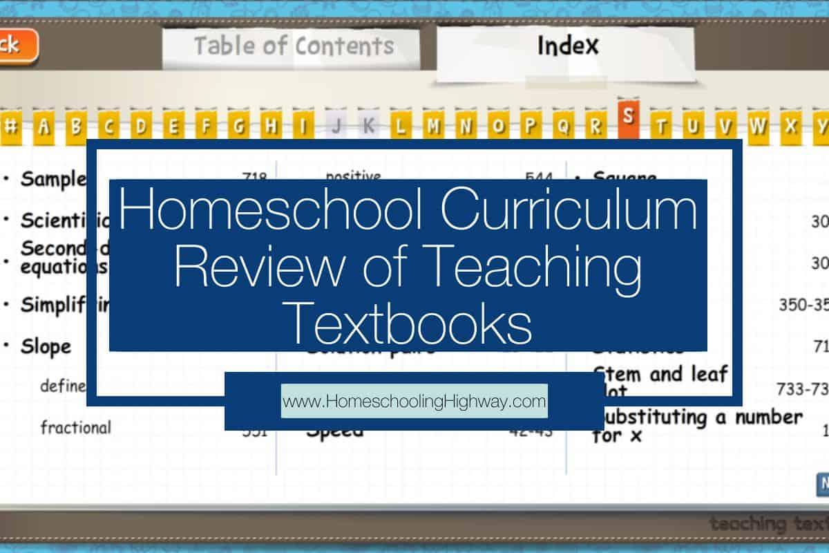 Curriculum Review: Teaching Textbooks Math 4.0