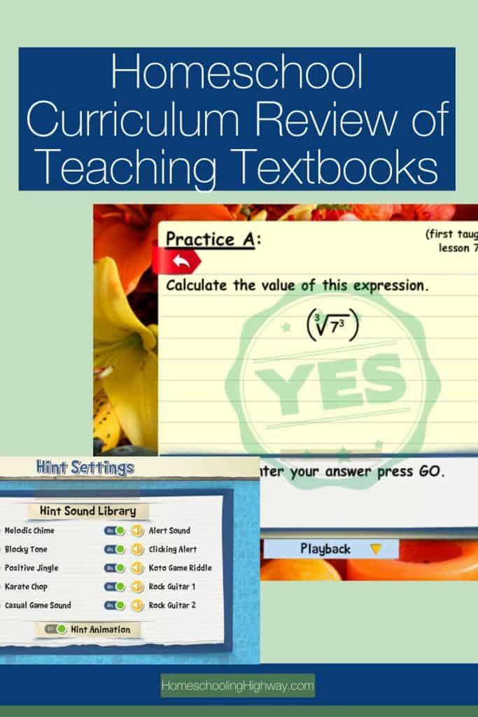 Homeschool Curriculum Review of Teaching Textbooks' Math 4.0