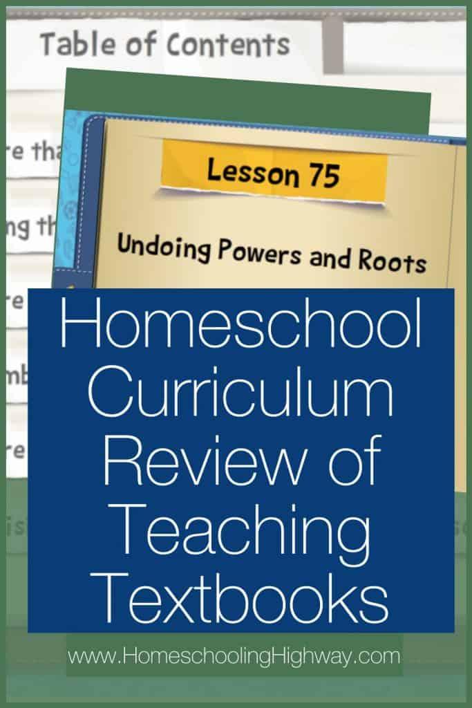 Curriculum Review of Teaching Textbooks' Math 4.0