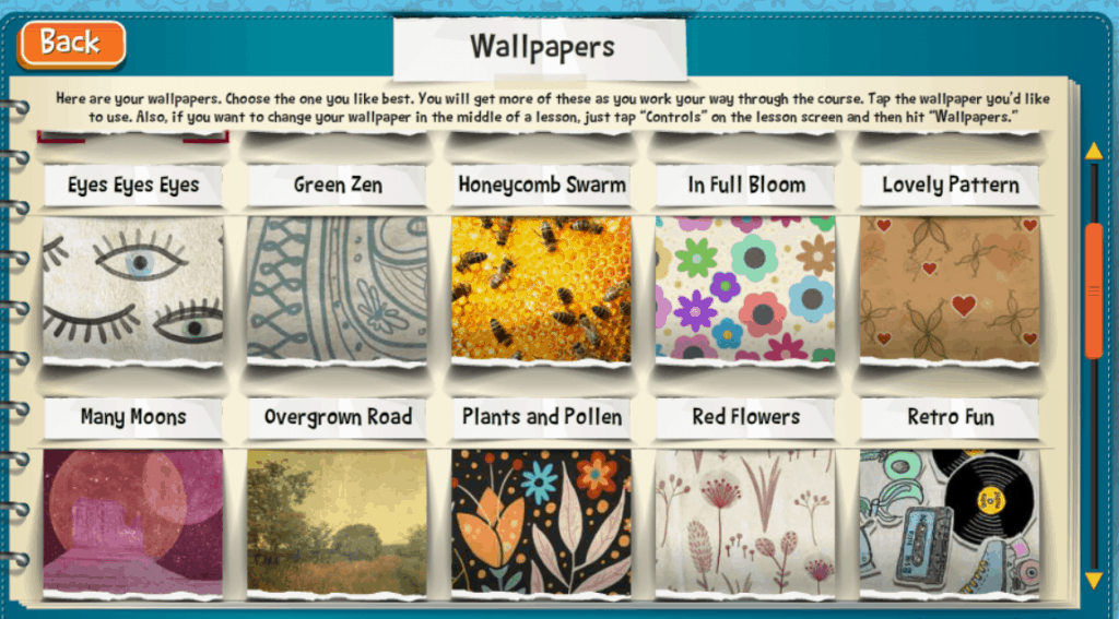 Wallpaper choices for Teaching Textbooks' Math 4.0