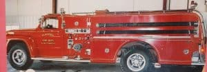 Fire engine at Claypool, IN