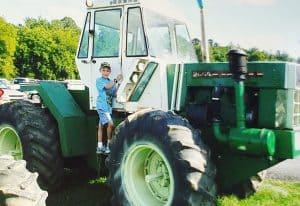 Look at the big tractors at the fair