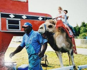 Circus ride on a camel