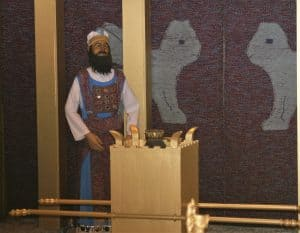 The High Priest at the Biblical Tabernacle Reproduction