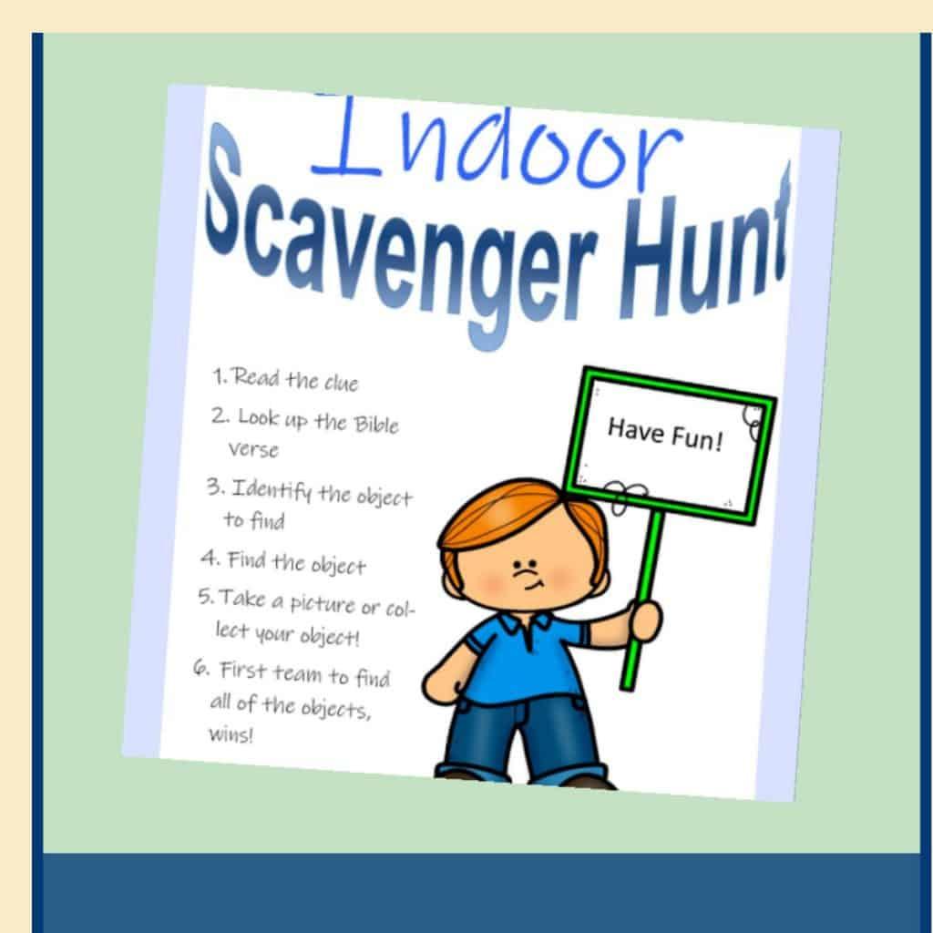 Indoor Scavenger Hunt Game for Kids