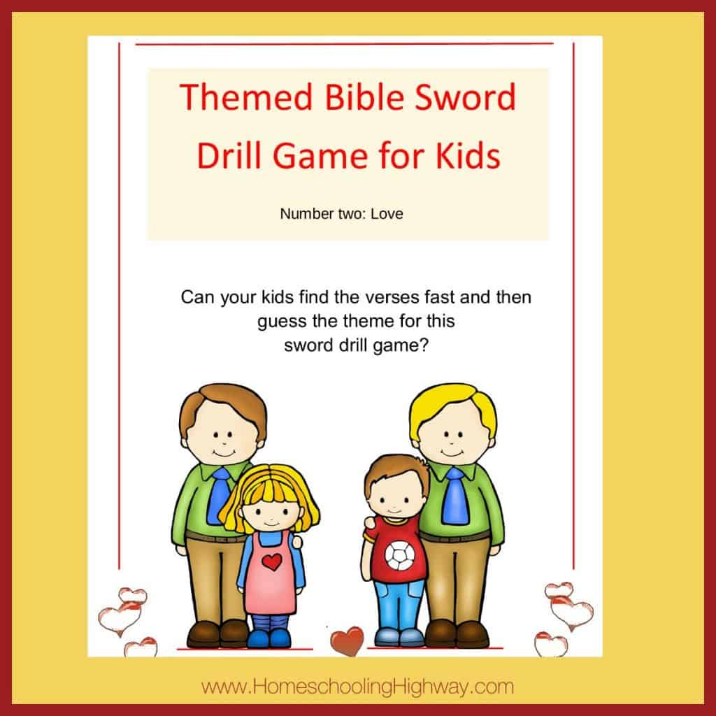 Themed Sword drill game for kids