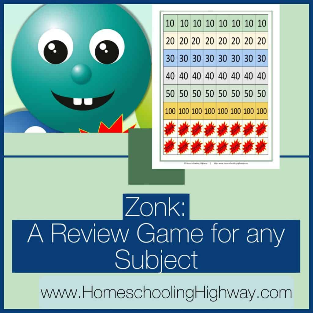 Zonk. A review game for any subject