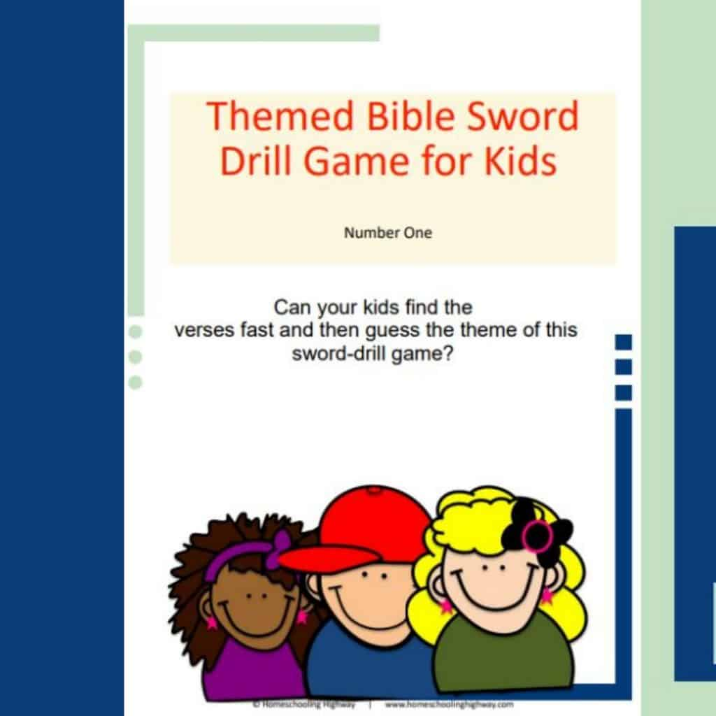 Sword drill game for kids