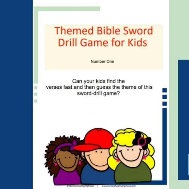 Themed Bible Sword Drill Game and Lesson for Kids