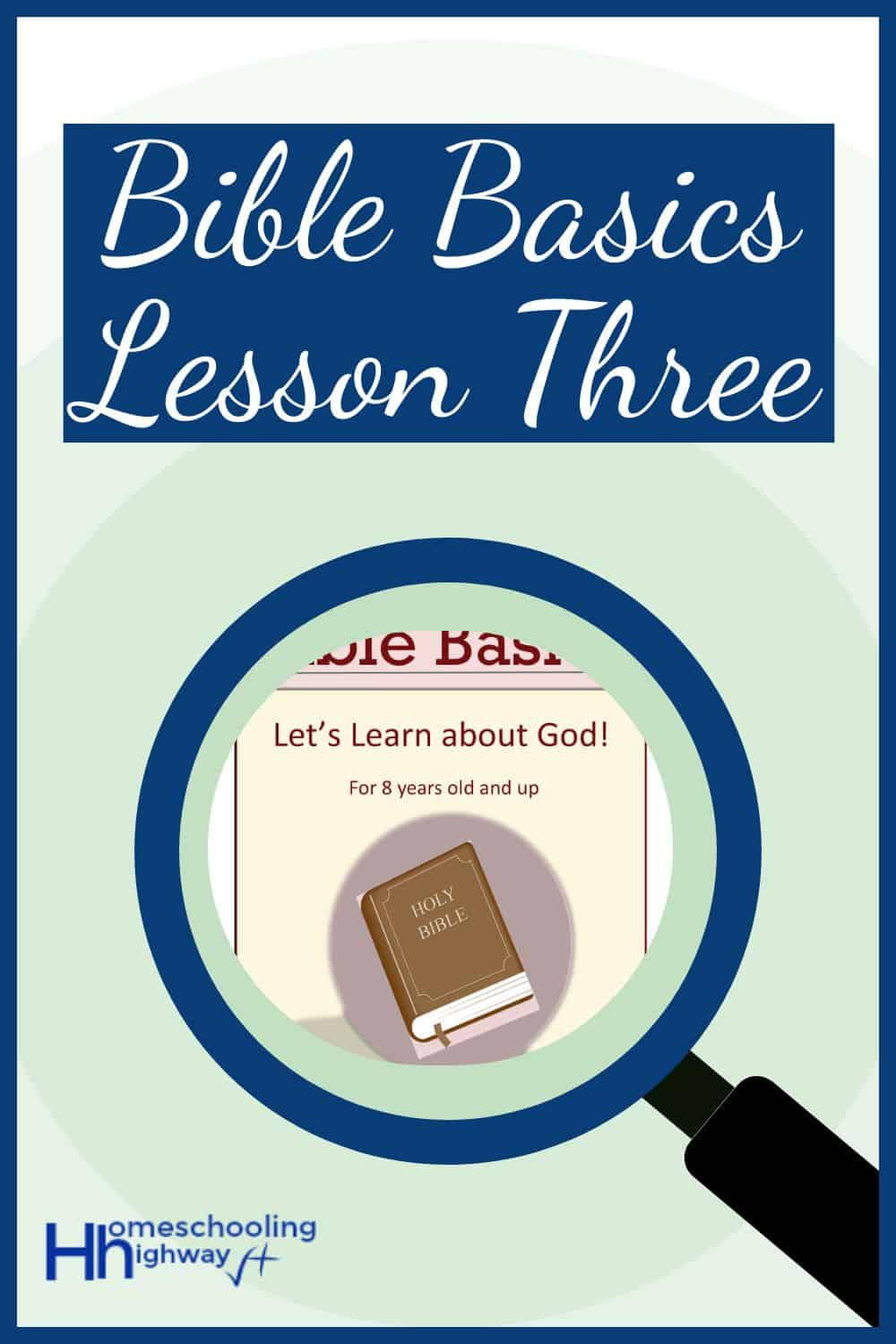 Let's Learn About God! Free Printable Basic Bible Lesson for kids