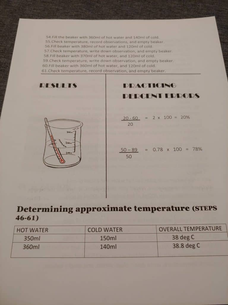 page 4 lab report for Greg Landry's Homeschool science