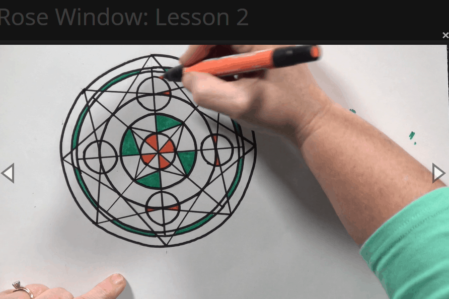 Rose Window Project lesson video
