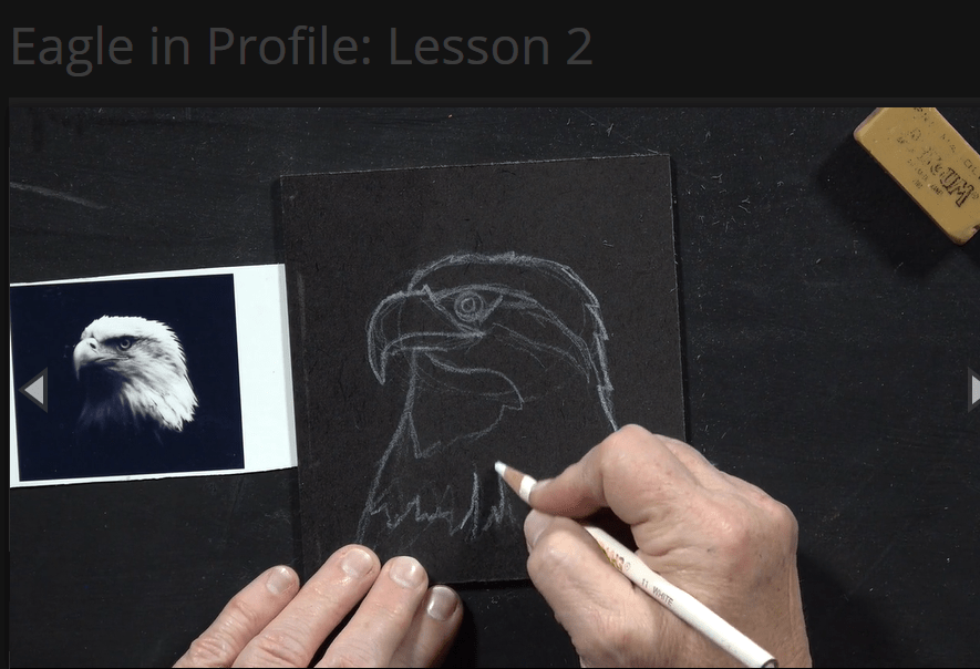 Ms. Sharon from Creating a Masterpiece teaches us how to draw an eagle's profile