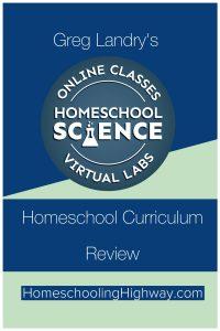 Review of Greg Landry's Homeschool Virtual Science Lab