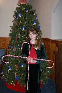 Volunteering at church in the Christmas program